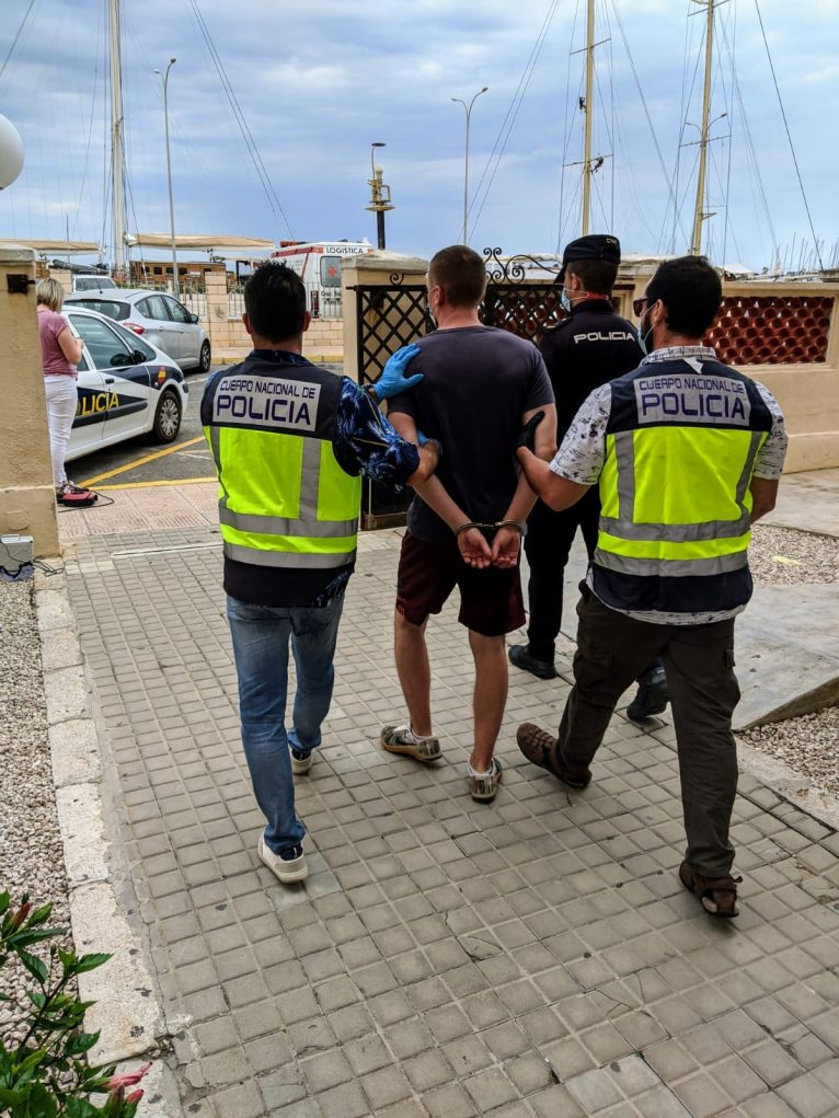 Arrested in Dénia