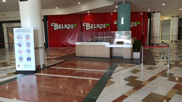 Image: Entrance to the Portal de la Marina center