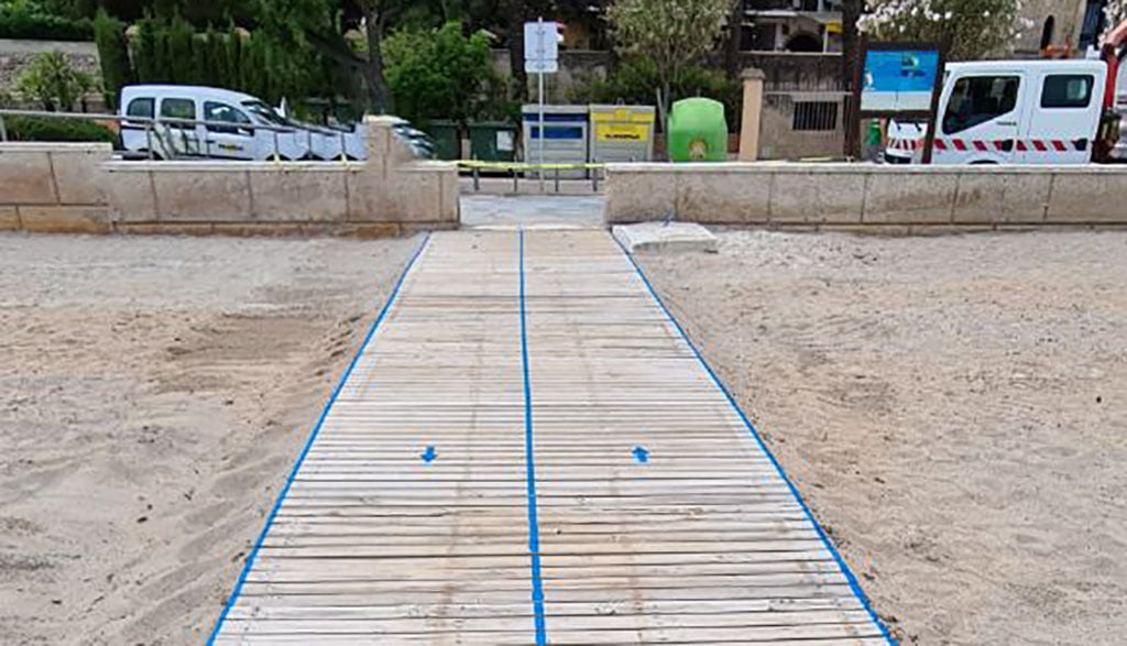 Entrador de playas delimitado