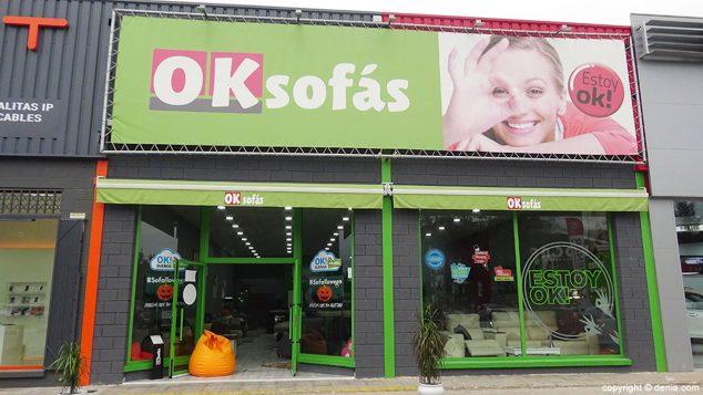 Imagen: Fachada de OK Sofás en Dénia