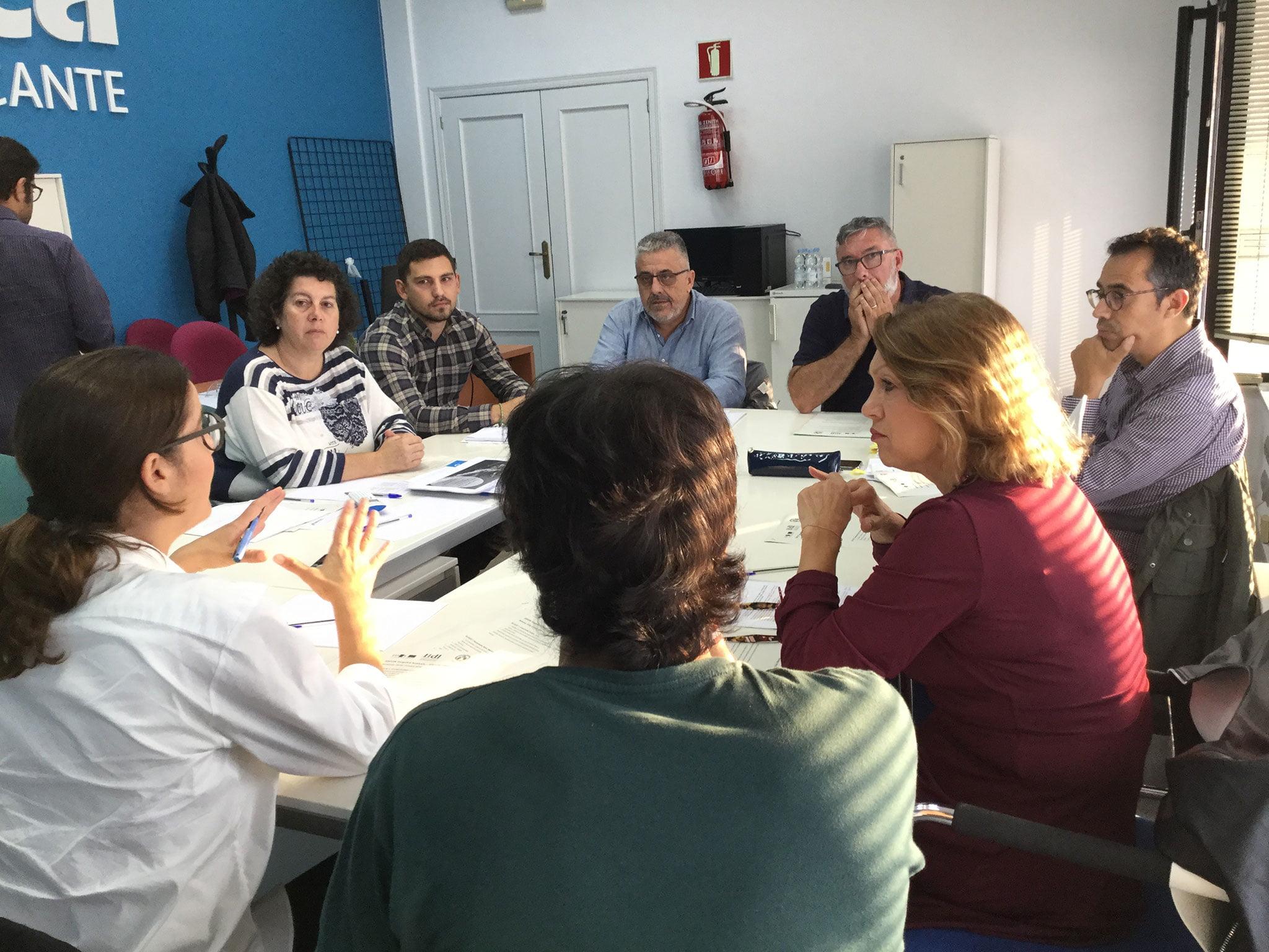 Grupo de discusión en octubre de 2018