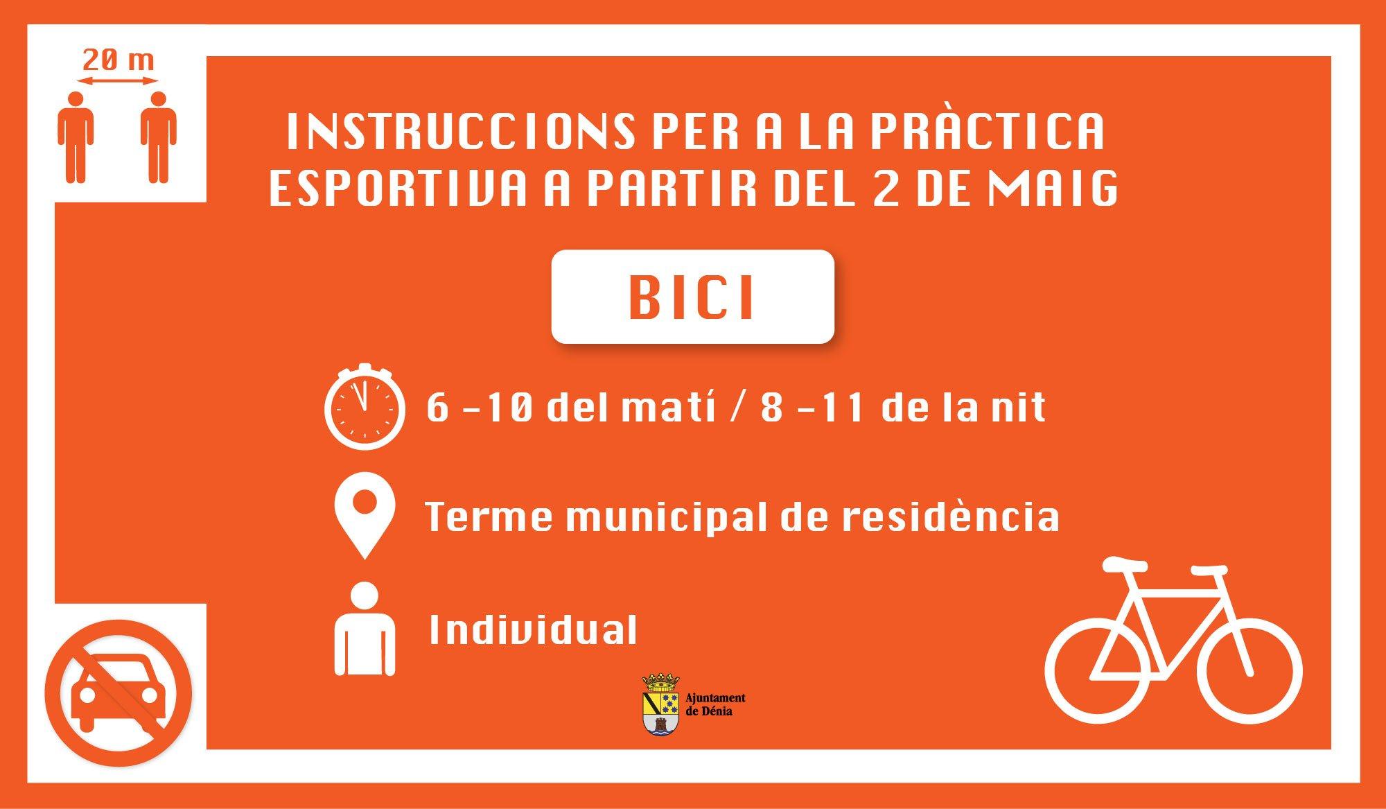 Instrucciones para la práctica de ciclismo