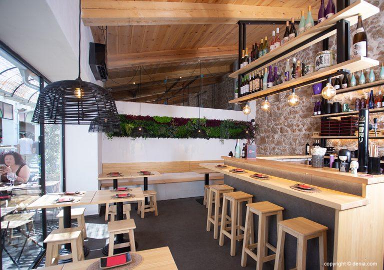 Interior de un restaurante en Dénia