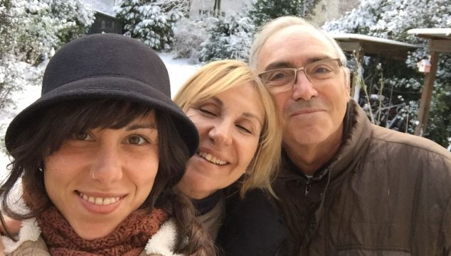 Image: A family image: Lucia's parents, Paco and Mati, visiting Germany last winter
