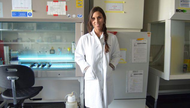 Image: Recent image of Lucía Torres, taken at her workplace