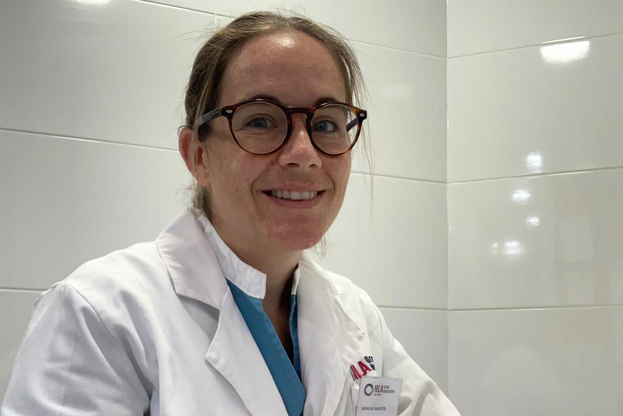 Marian Martin, nutricionista de HLA San Carlos