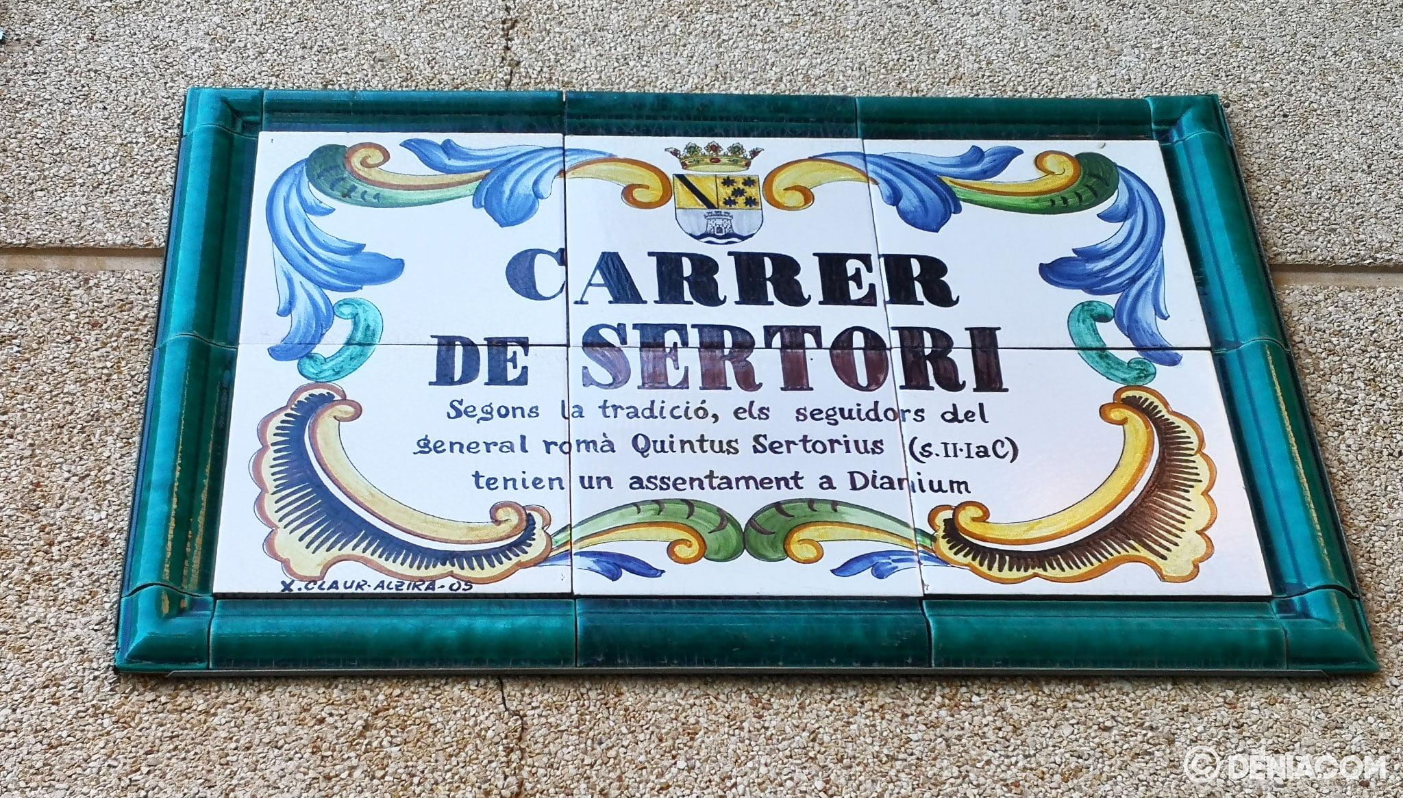 Sertorio street sign