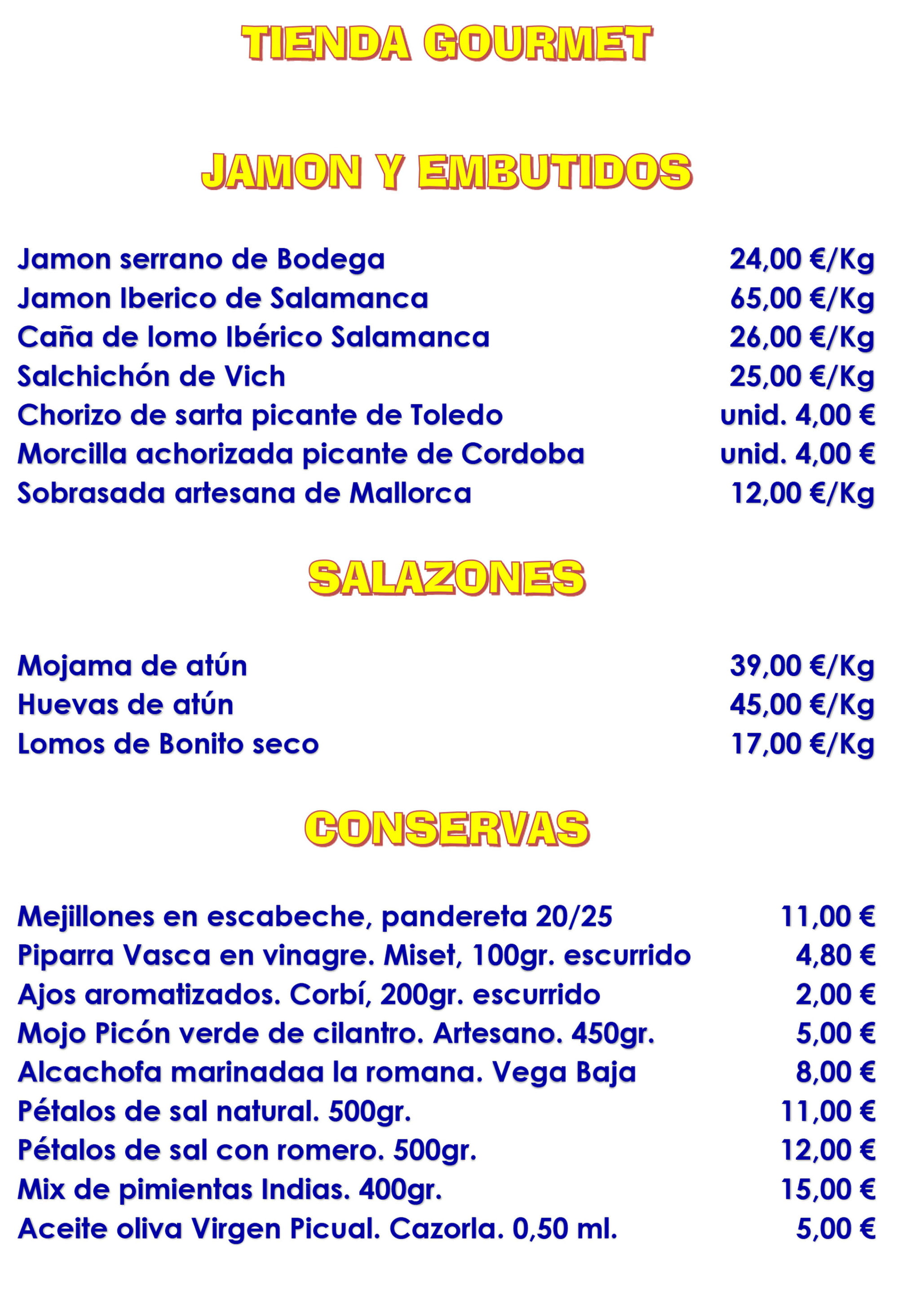Gourmet products - El Mosset