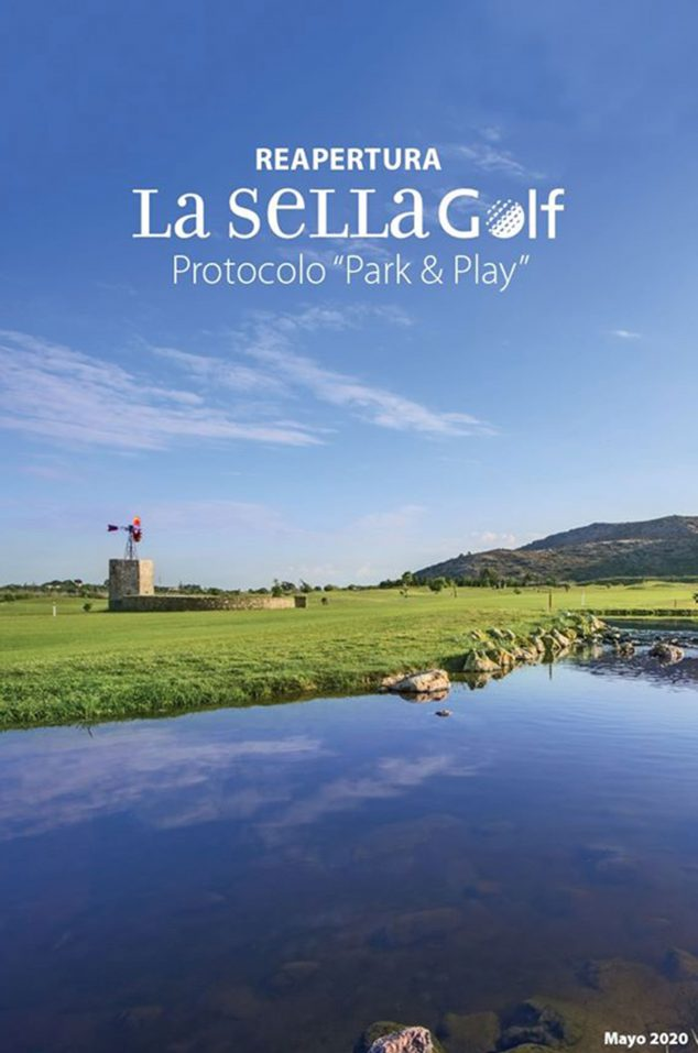Image: Protocol for safe golf practice, available in detail in the La Sella Golf RRSS