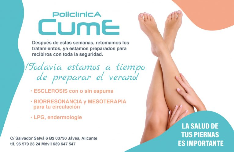 Treatments for the health of your legs in Jávea - CUME Polyclinic