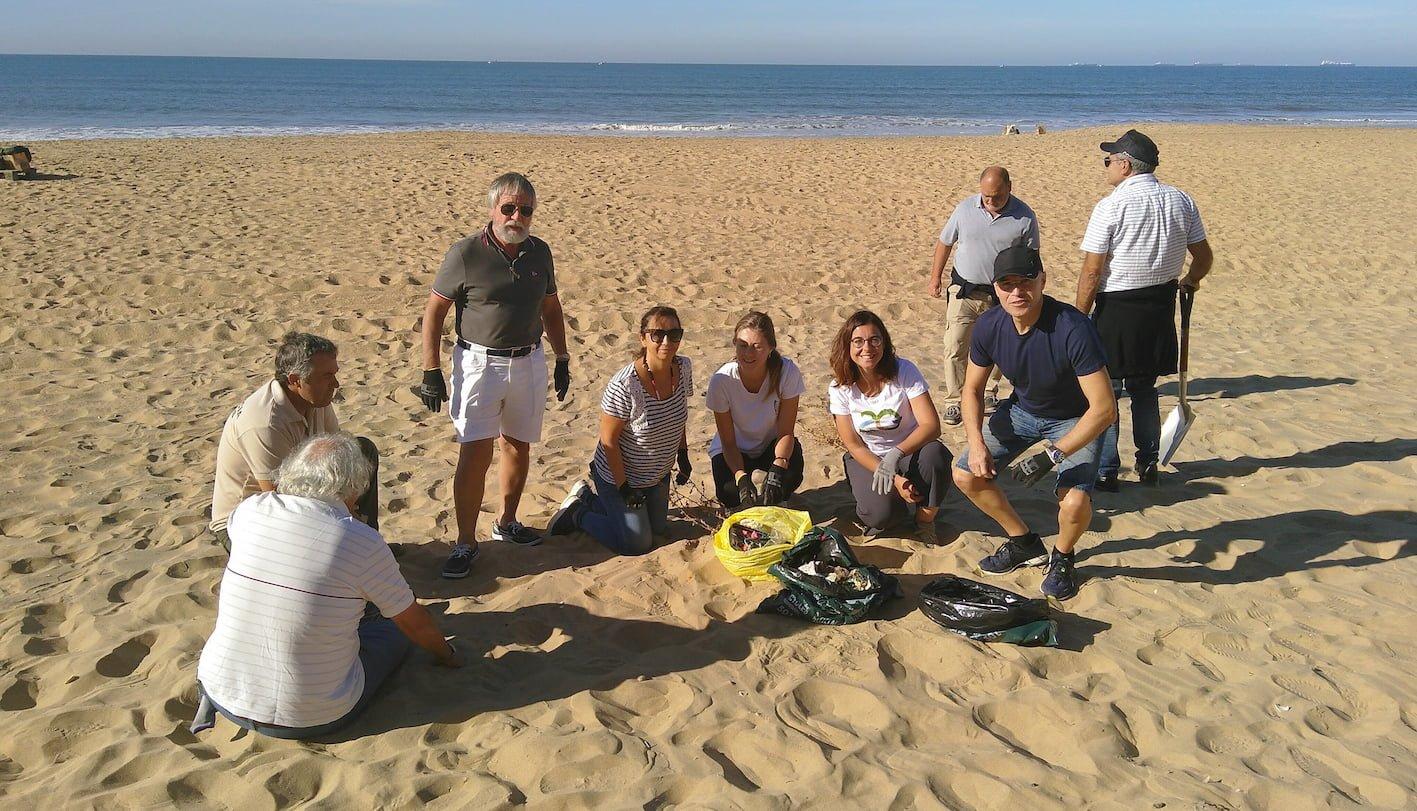 Activity on the beach
