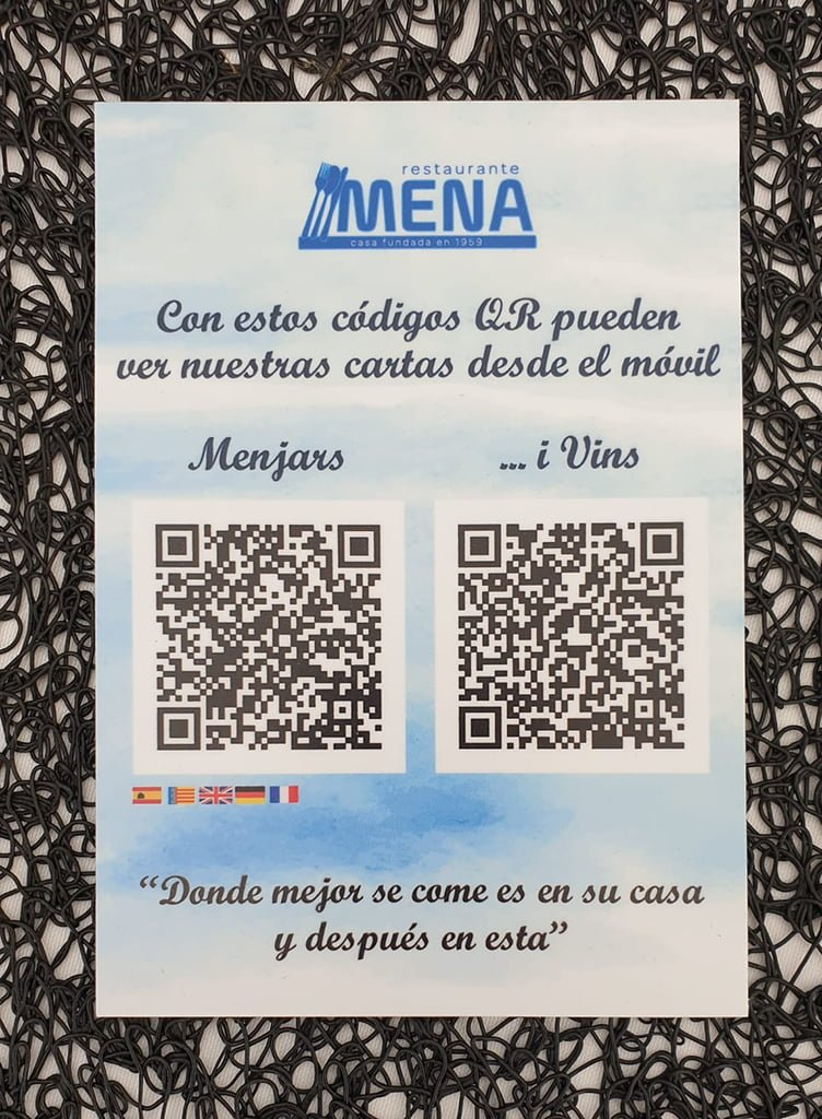 Carta virtual QR - Restaurante Mena