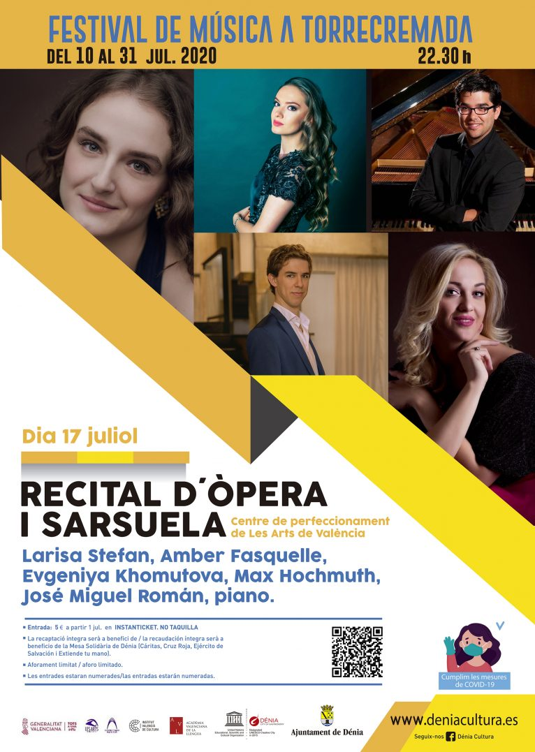 Opera and zarzuela recital poster