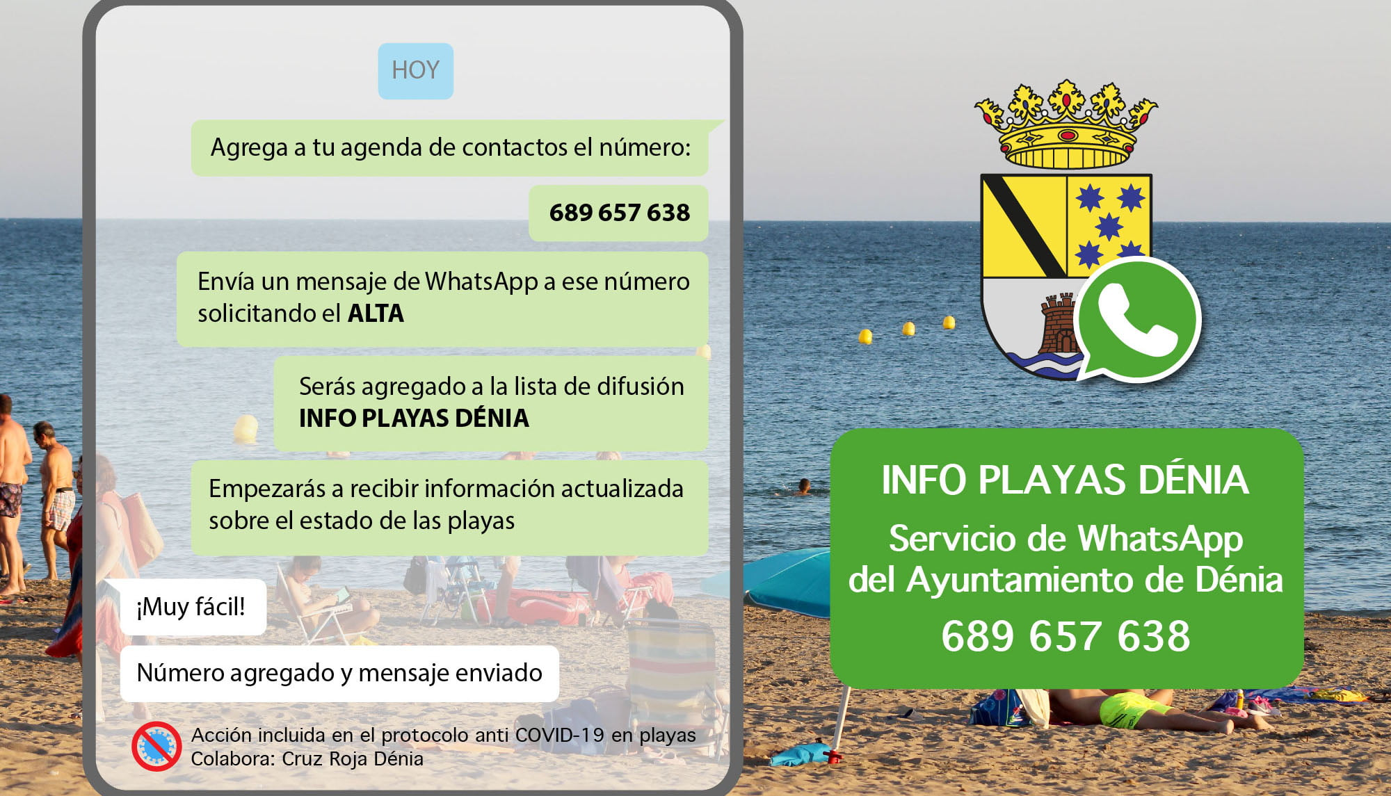 Beach information service poster