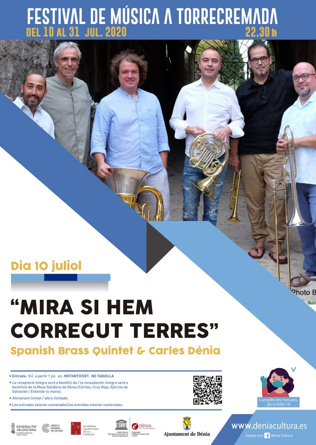 Imagen: Cartel Spanish Brass & Carles Dénia