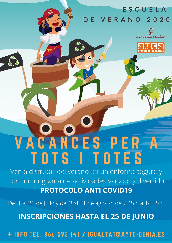 Poster Vacances per a tots i totes 2020