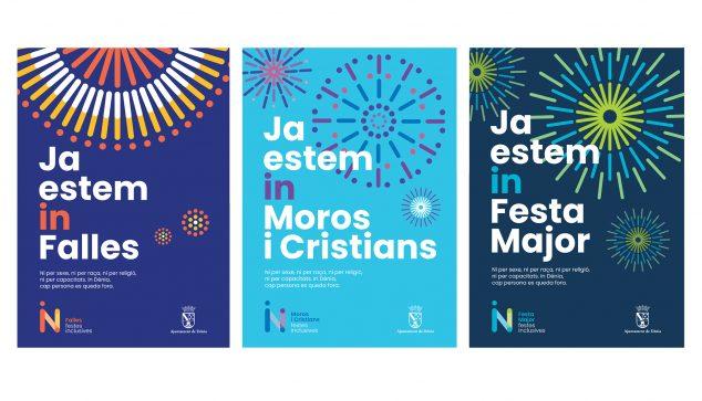Imagem: Cartazes de festas inclusivas