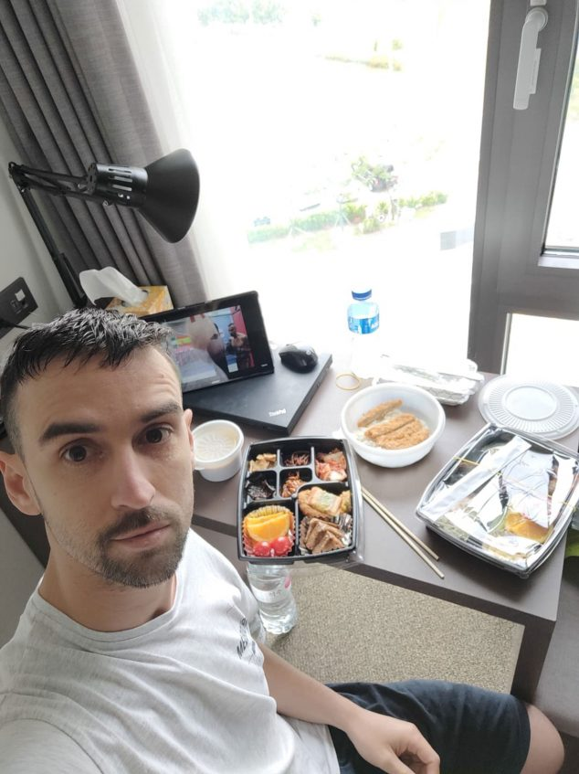 Image: David Costa confined to a hotel in Seoul, the capital of South Korea