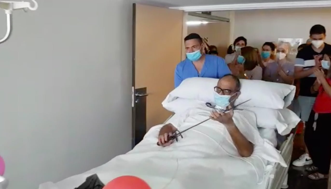 Farewell of the last admitted to the ICU by COVID