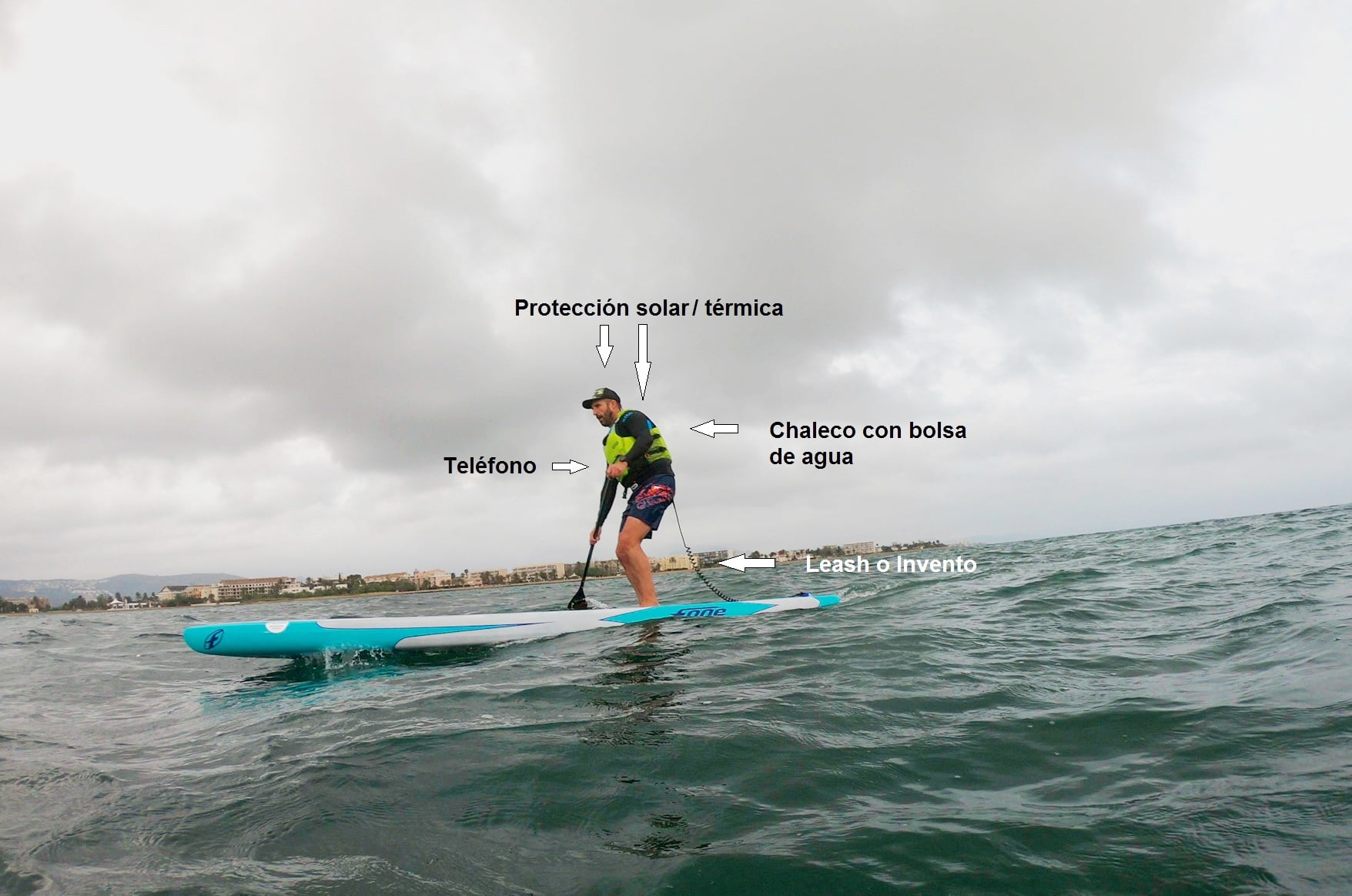 Details SUP safety measures recommended on dark days