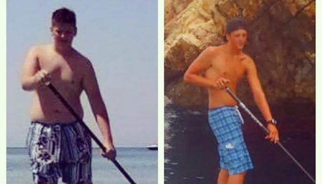 Image: évolution physique de James en un an