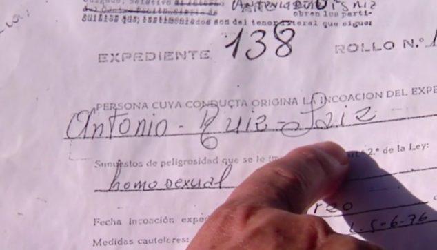 Image: Antoni Ruiz's file issued in Cuatro