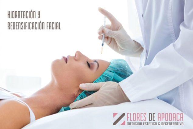 Image: HYdration and facial redensification - Flores de Apodaca Clinic