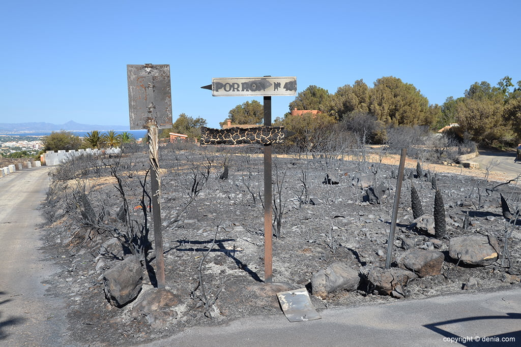 Fire on the Montgó in 2014