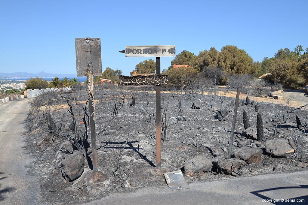 Incendio en el Montgó de 2014