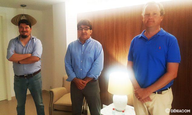 Imagen: Juanjo Ribes, junto a Juan Benavente y Jonathan Lamber