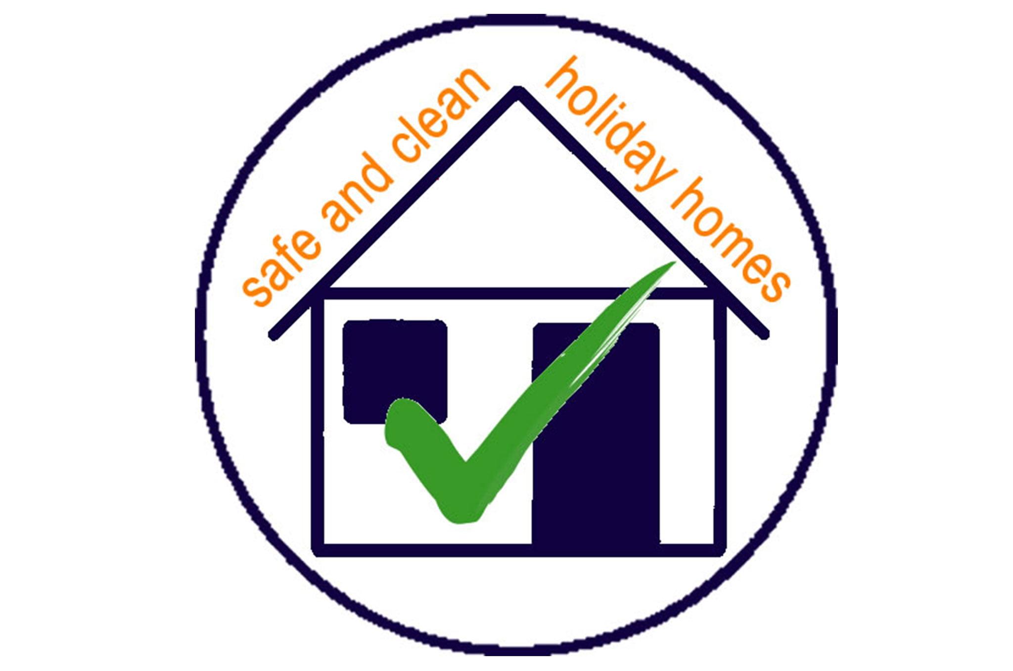Logotipo de garantía Safe and Clean – Quality Rent a Villa