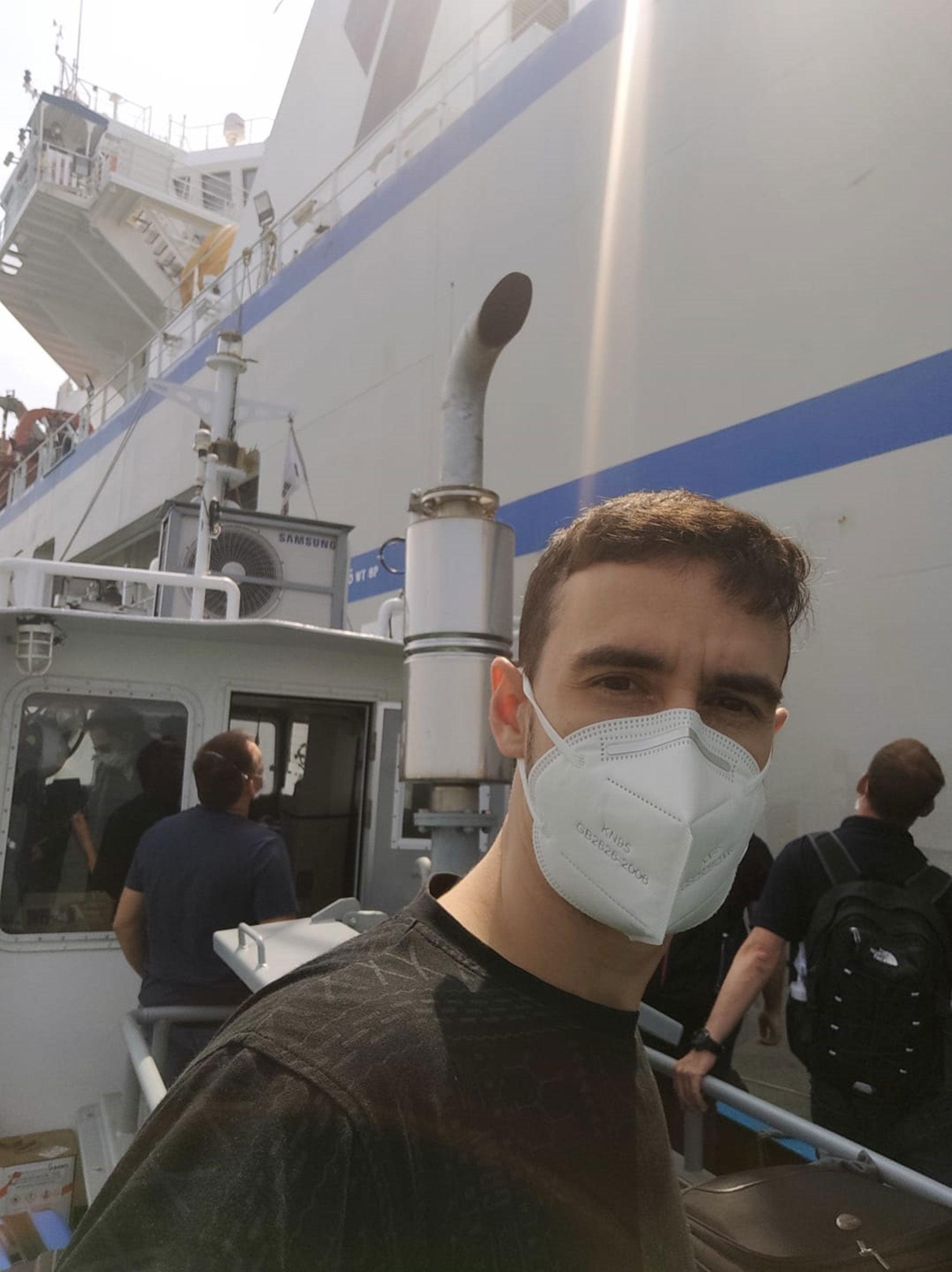 David Costa embarking with security measures