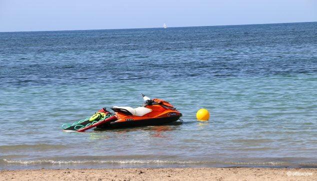 Imagen: Moto de agua de socorrismo de Cruz Roja