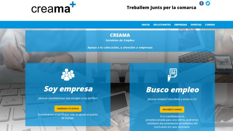 New portal of the placement agency