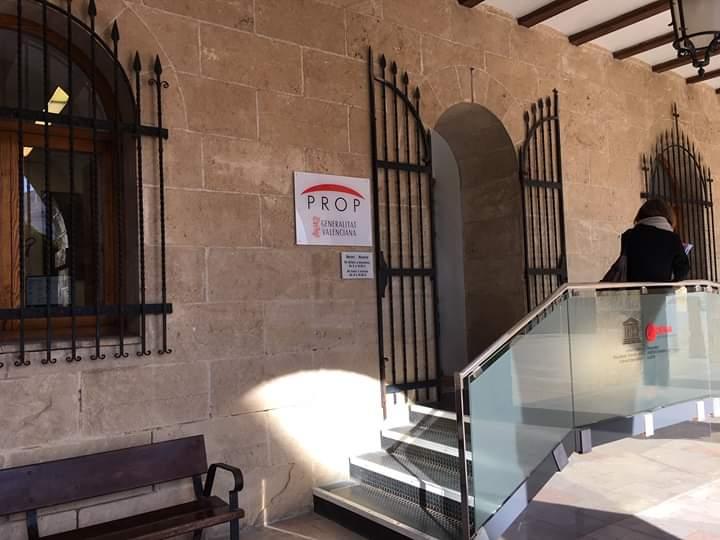 PROP office door