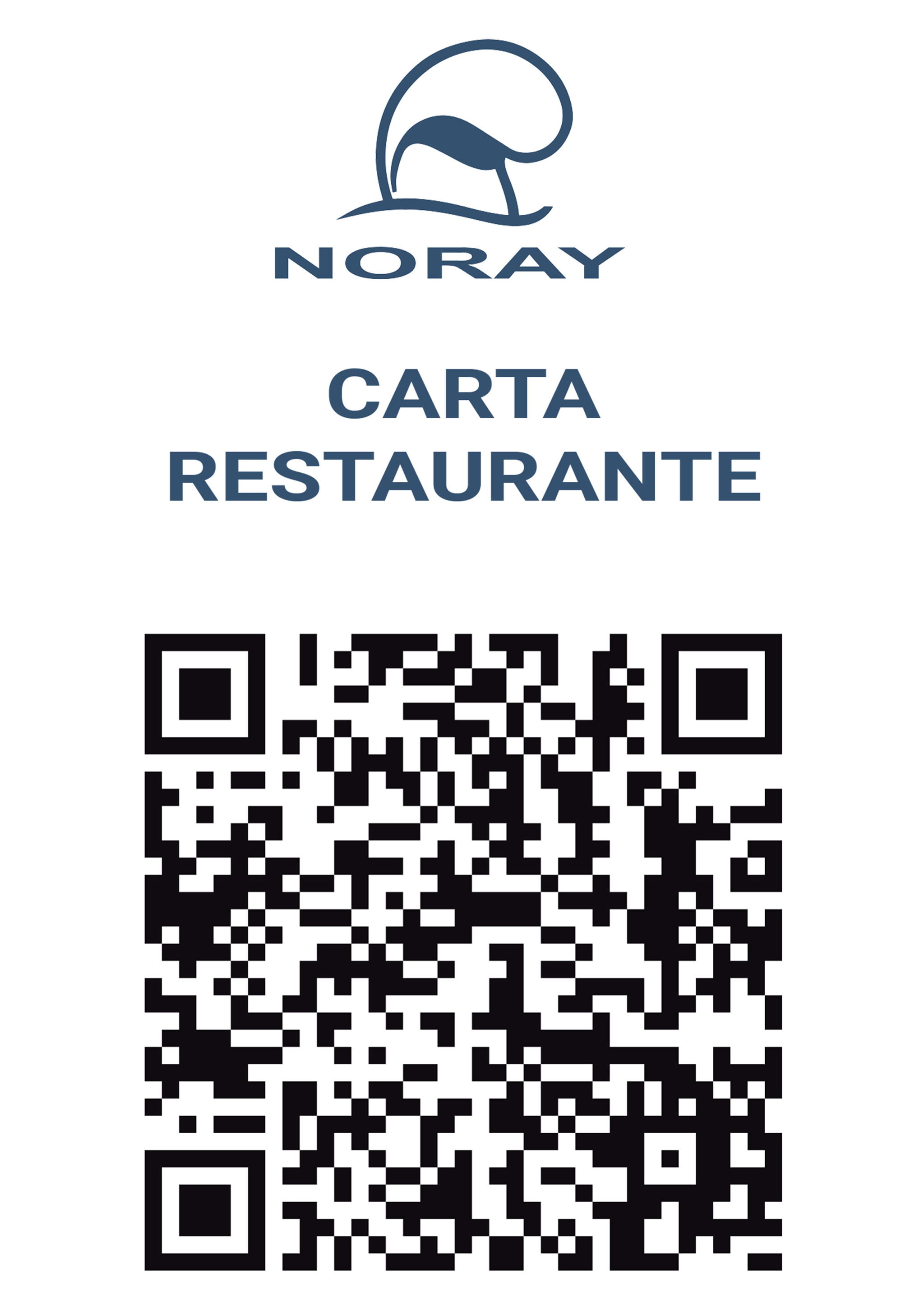 Menu of the Noray Restaurant, in Jávea. with QR codes - Avantcem