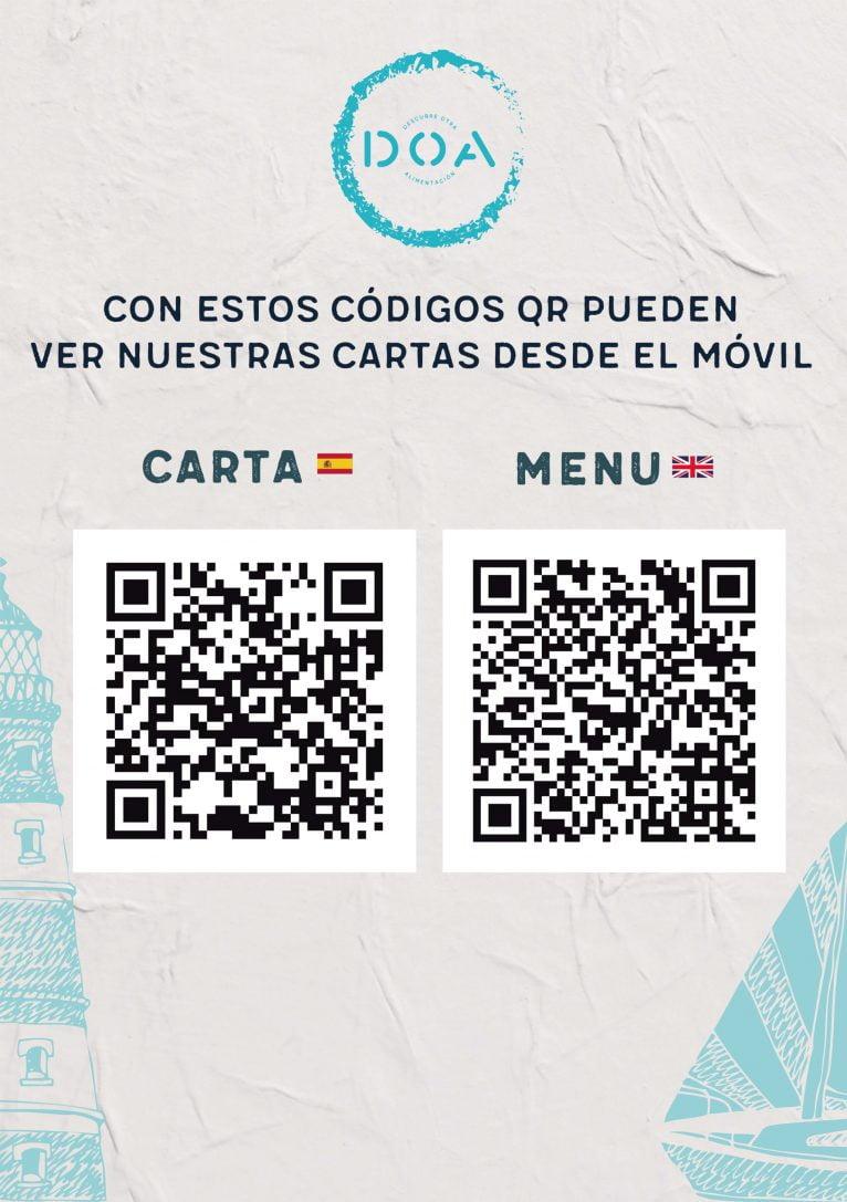 Carta con códigos QR de DOA - Avantcem
