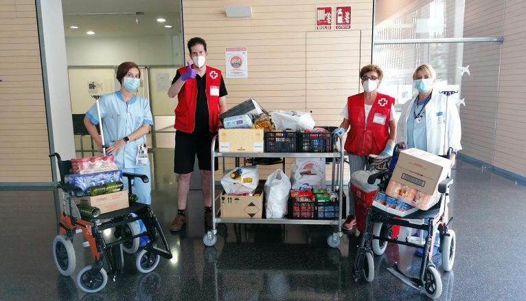 Food collection at the Hospital