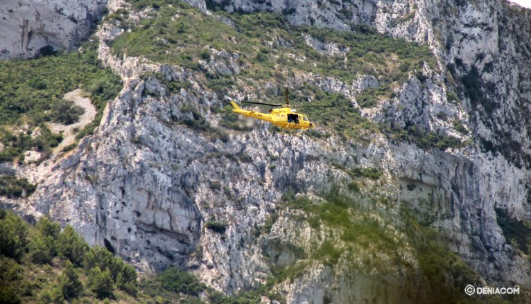 Helicopter rescue on the Montgó