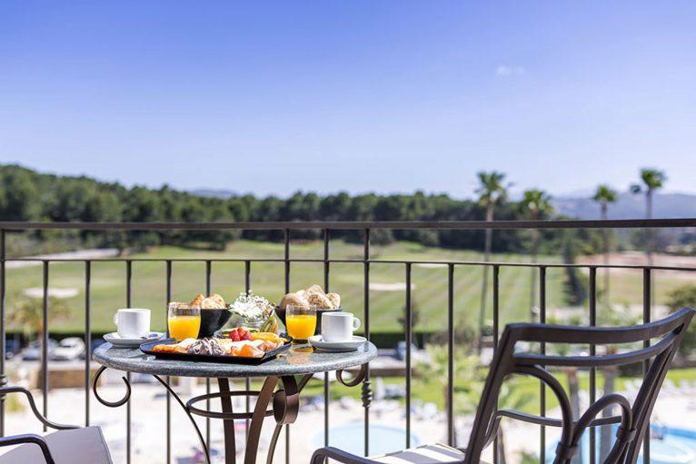 Terrace in Dénia Marriott La Sella Golf Resort & Spa hotel