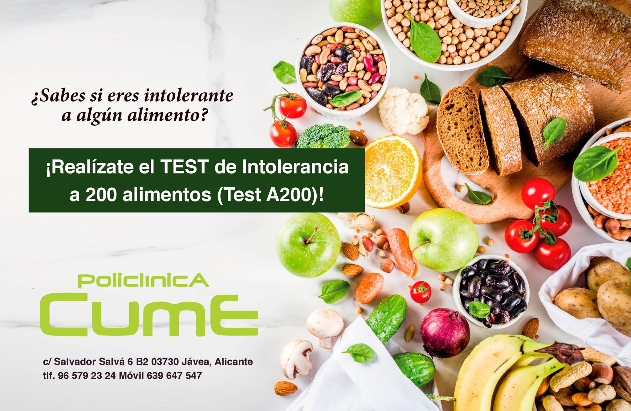 Food Intolerance Test - Cume Polyclinic