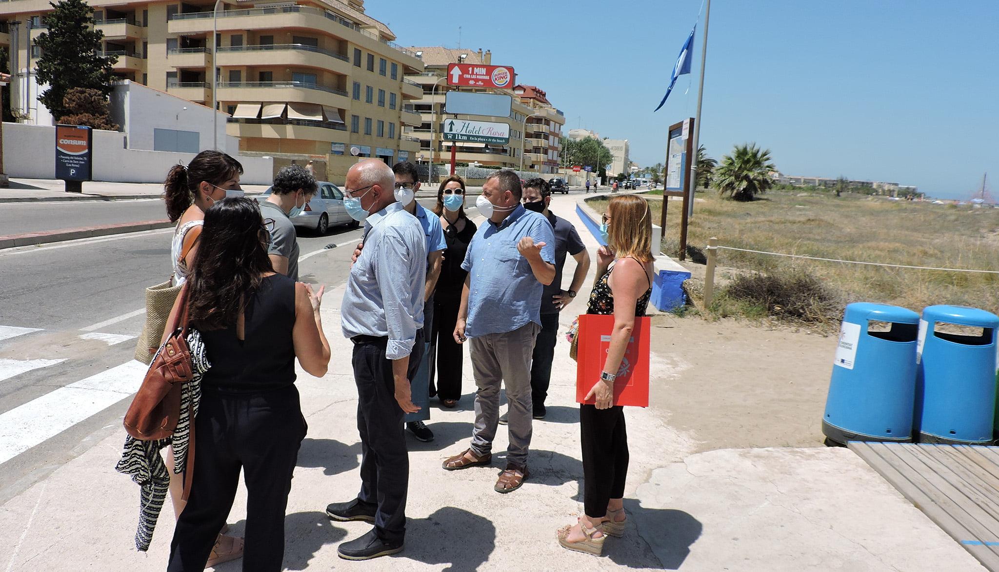 Visit of Francesc Colomer at Punta del Raset beach