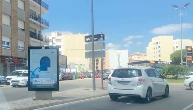 Imagen: Anuncio de fibra óptica en la salida de Dénia