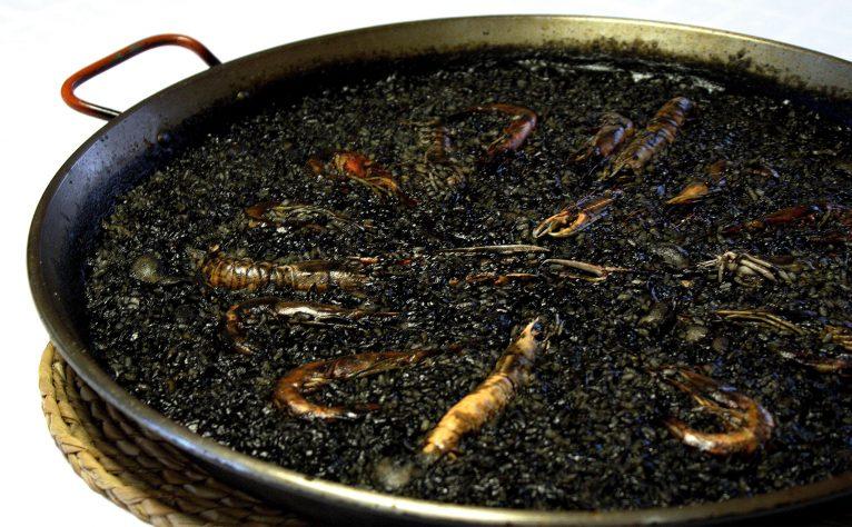 Black rice in Dénia - Isa Restaurant