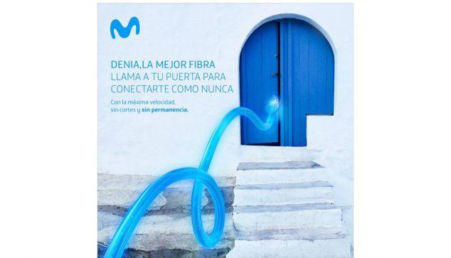 Imagen: Campaña en redes sociales de fibra óptica en Dénia