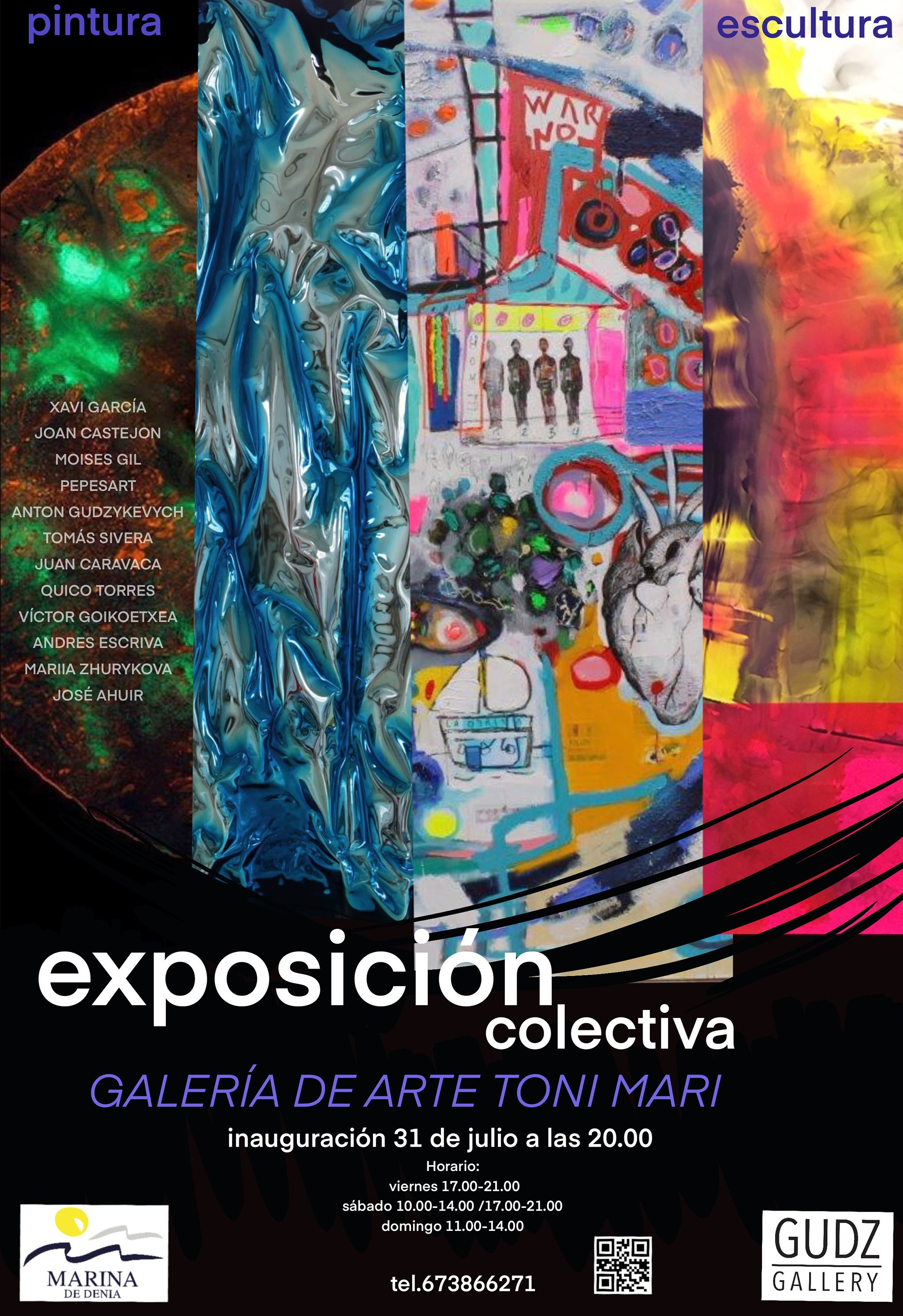 Cartel de la exposición colaborativa de Marina de Dénia