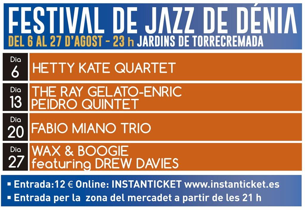 Conciertos del Festival de Jazz a Dénia