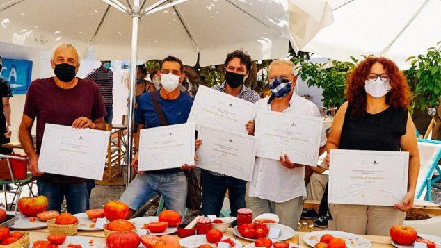 Imagen: Ganadores del concurso La millor tomaca de la Marina