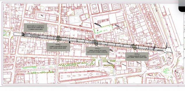 Imagen: Plano de la Calle Marqués de Campo