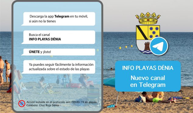 Image: Information about the beaches of Dénia through Telegram